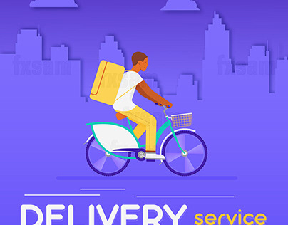 DELIVERY SERVICE CONCEPT. FLAT STYLE