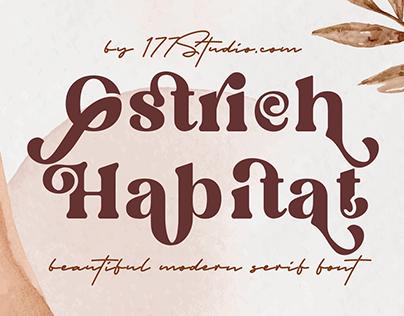 Free Font - Ostrich Habitat