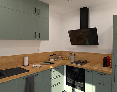 Double simulation de rénovation d'une cuisine