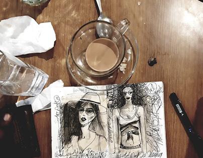 Tea Fashion Illustration