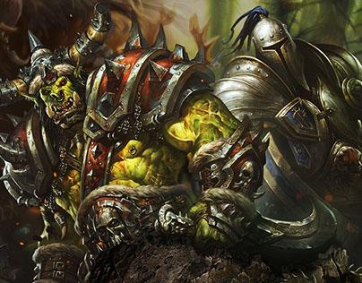 BlackRock. Landing for private server World of Warcraft
