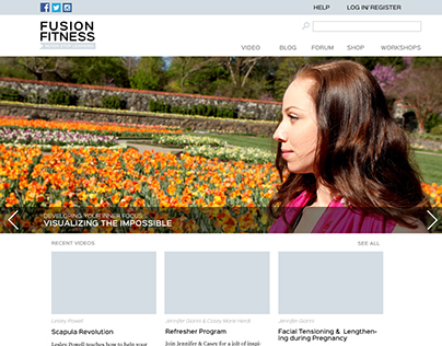Fusion Fitness Web Design