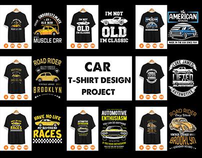 Car T-Shirt Design Project