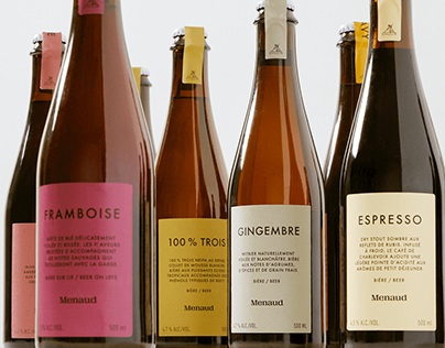 Menaud Bières - Brand Identity & Packaging Design