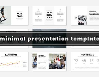 Minimal Presentation Template   FREE Donwload