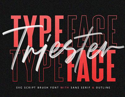 FREE Download - Triester SVG Brush Font