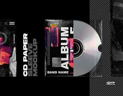 CD Paper Sleeve Mockup