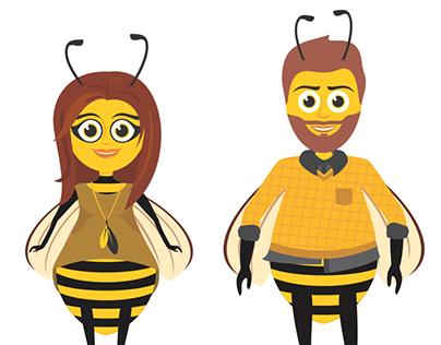 Bees - illustrations