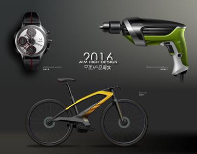 CorelDRAW drawing industrial design effect diagram
