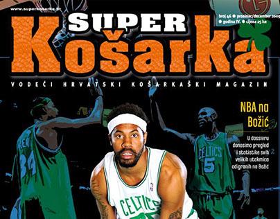 Basketball magazine layout