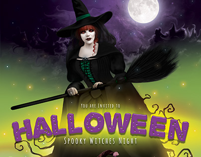 Halloween Spooky Witches Night Flyer
