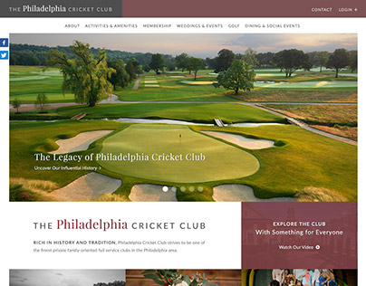 Philadelphia Cricket Club Homepage Design Concept
