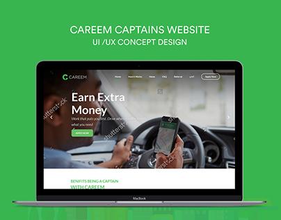 Careem Website UI /UX Concept Design