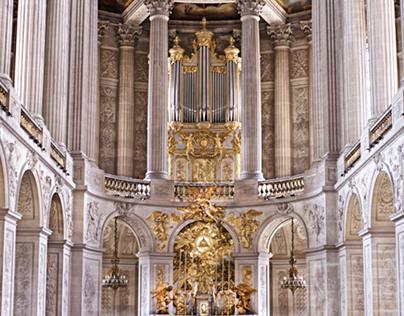 Chateau de Versalles in Gold
