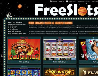 FreeSlots99.com design & dev (site about casino slots)