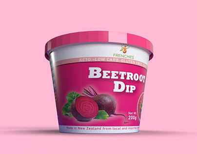 BEETROOT DIP- CONICAL CONTAINER DESIGN