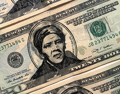 Harriet Tubman Stamp for the $20 Bill