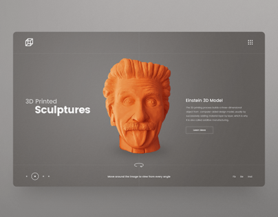 3D Printing company Website UI design