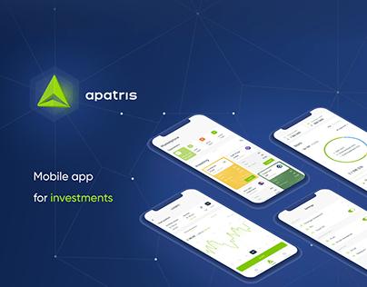 UI/UX ❘ Apatris ❘ Investment Mobile App