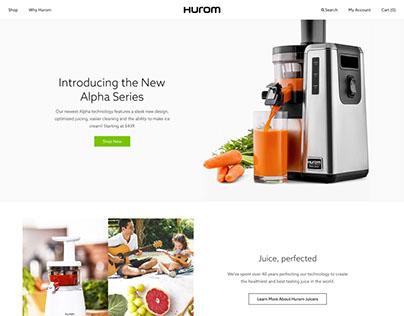 Hurom- Responsive Web- UI/UX Design