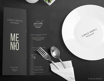 Uncle Vanya Restaurant Menu design by Zollo