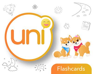 UNI: Output 1 - Interactive Dual Language Flashcards