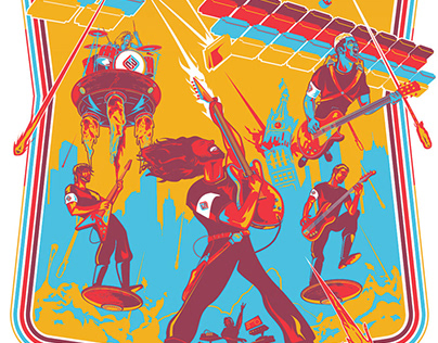 Foo Fighters - Limited Edition Poster - Milwaukee 2018