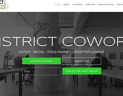 Web Design for a NYC Coworking Space