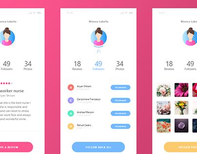 User App Design Animation