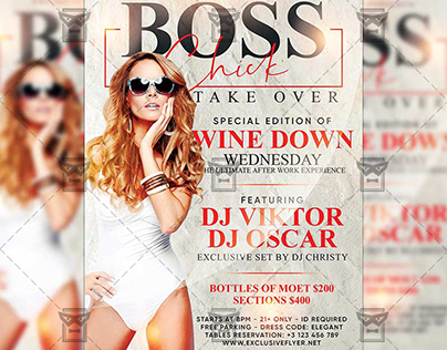 Boss Chick Take Over Flyer - Club A5 Template