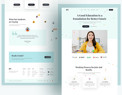 Elearning Web UI Exploration