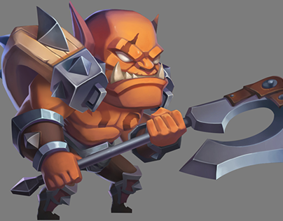 Spine 2.5D animation: Orc & Michael Super Heroes Galaxy
