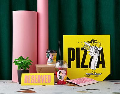 Al Dente Pizza Pasta restaurant identity