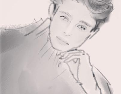 【private work】men's illustration