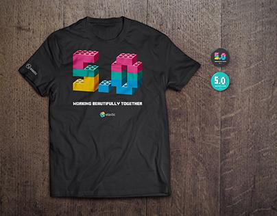 Elastic 5.0 Launch T-shirt design