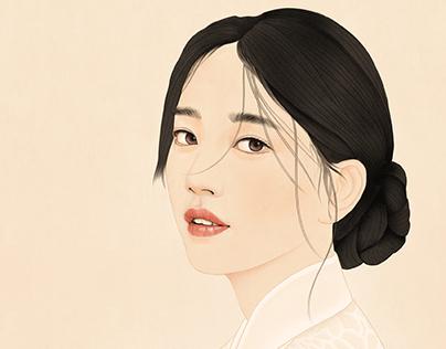 Portrait of a Beauty : Su-ji