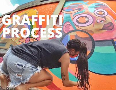 Graffiti wall process in Bali | Street art