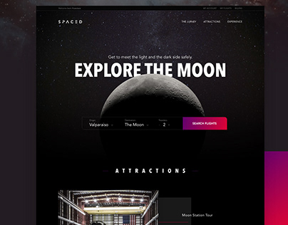 Spaced Challenge Homepage - Website Design Case Study