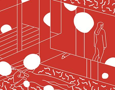 Сharacter illustration. Yayoi Kusama
