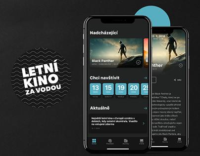 Open-Air Cinema App - App Design Concept