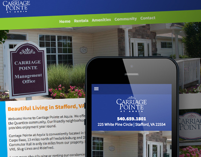 Carriage Pointe Website Redesign