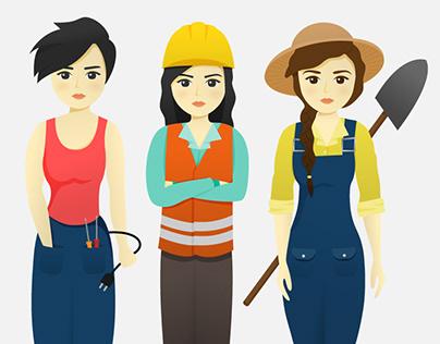 Women Workers Illustration