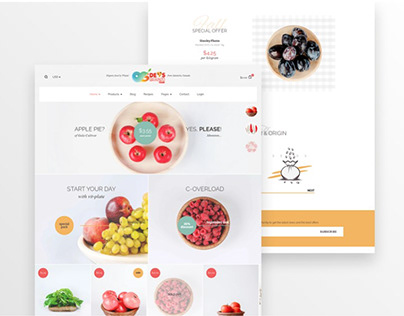 Food Related Shopify Online Store Design