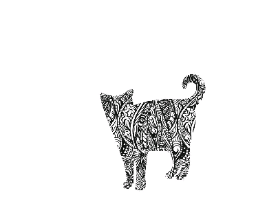 Pattern Animal Silhouettes