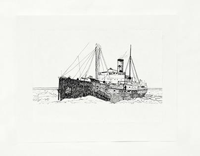 'Nascopie' Supply Ship - Illustration from 'Native Born