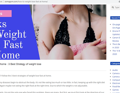 How to weight lose fast at home
