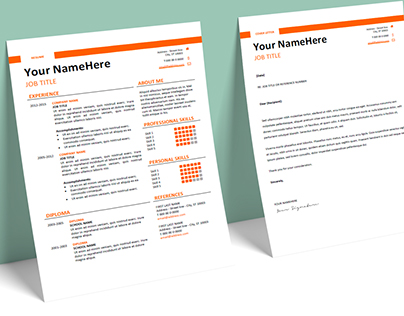 Montjuic - FREE Resume template + Cover Letter