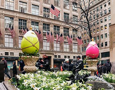 Snow Easter at Rockefeller Center
