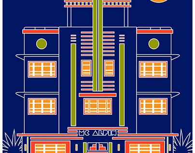 Miami Deco & Niagara Falls - graphic design commission