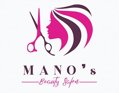 Mano's Beauty Salon Logo